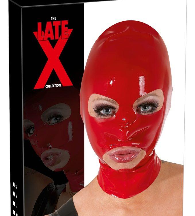 Маска латексная красная Latex-Kopfmaske