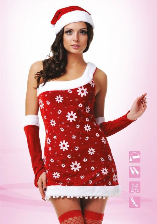 Новогодний костюм снегурочки (S/M)