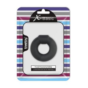 Эрекционное кольцо черное Ultra Soft Platinum-Cure Silicone