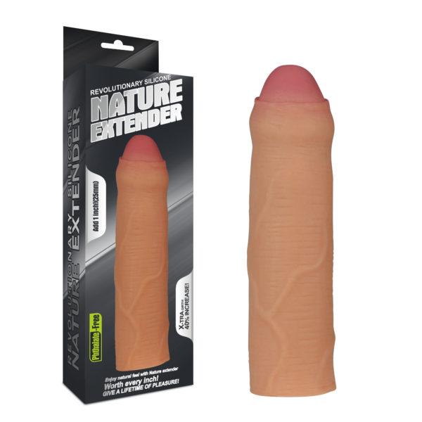 Удлиняющая насадка телесная Revolutionary Silicone Nature Extender-Uncircumcised